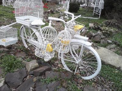 white bicycle in manassas
