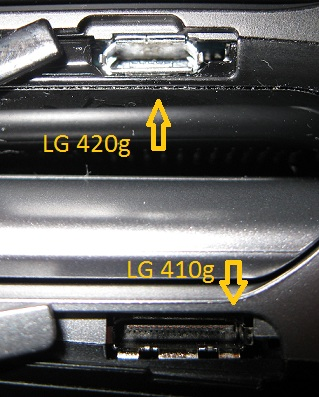Connector sockets LG 420g 410g