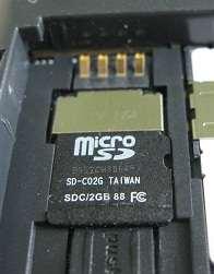 memory card in WX345