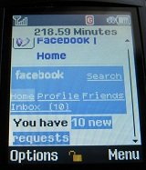 facebook on basic tracfone