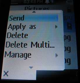 W408g delete photos or send photos