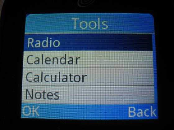 A382 radio menu