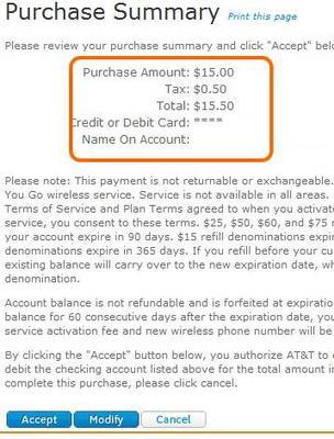 GoPhone airtime plus tax