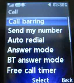 LG 420g Call Barring