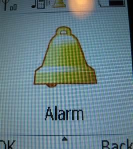 doro phone alarm menu