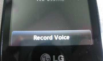 LG 800g record voice message
