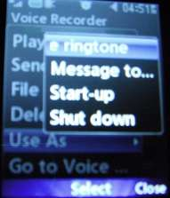 voice recording as ringtone
