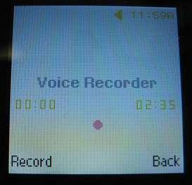 Samsung T245g voice recorder