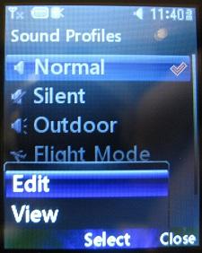 LG 420g normal sound profile