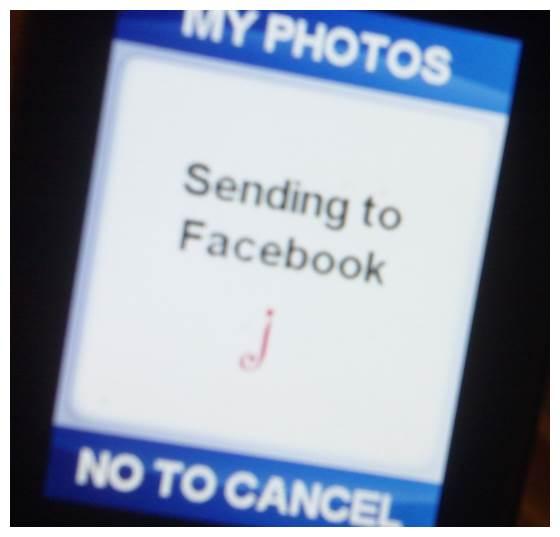 sending jitterbug plus photos to facebook