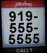 jitterbug phone large screen font