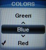 jitterbug screen colors