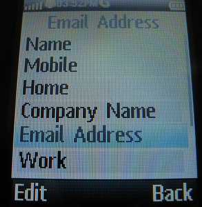 Motorola WX345 Contacts