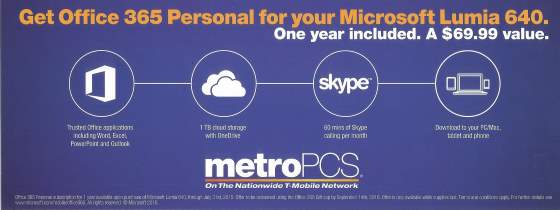 metropcs office 365 offer