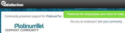 platinumtel community support