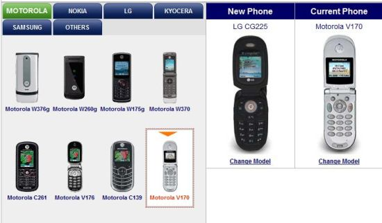 select old and new tracfone models