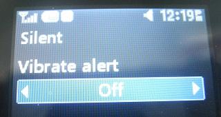 LG 420g Silent Mode Vibrate Off