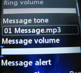 LG 420g Message Tone Volume Zero