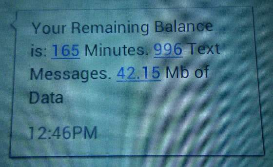 non-texter's balance