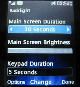 LG 500g backlight setting