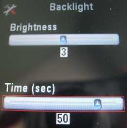Motorola EX124g backlight settings