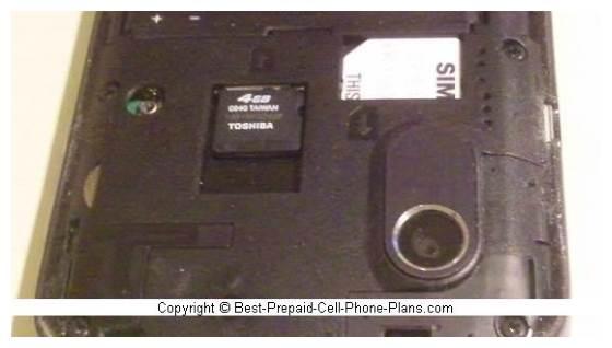 4 GB card in ZTE phone